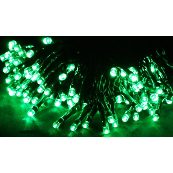 guirlande verte de noel solaire 50 leds. Black Bedroom Furniture Sets. Home Design Ideas