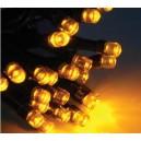 Guirlande 50 LEDs jaune Solaire